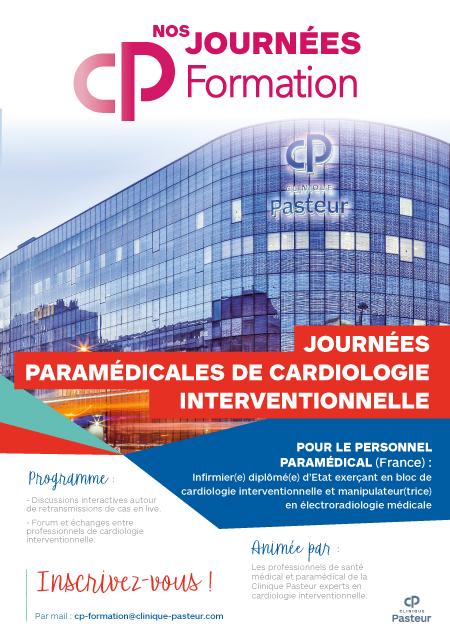 Affiche formation paramédicale cardiologie