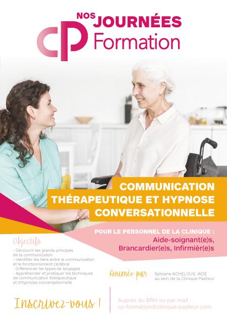 Affiche communication thérapeutique et hypnose conversationnelle