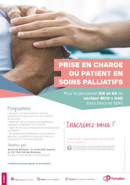 Affiche formation Prise en charge en soins palliatifs