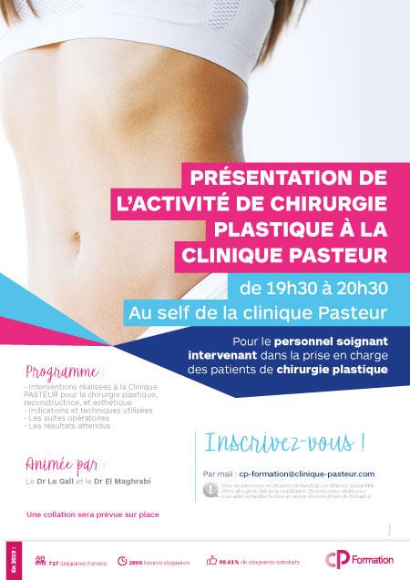 Affiche CP Formation Soirées Chirurgie plastique