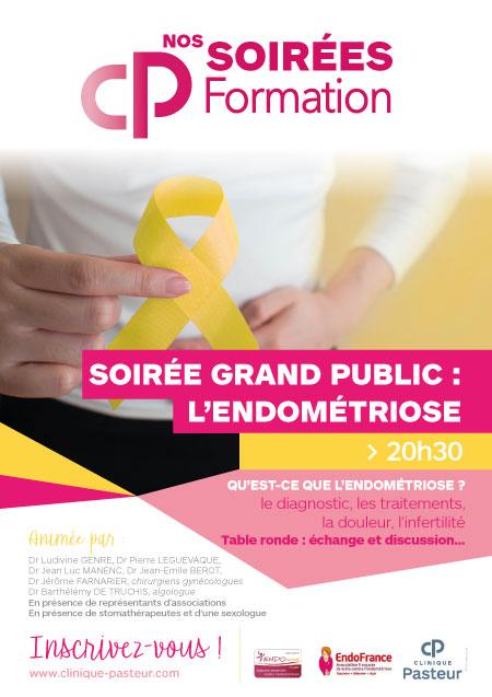 Affiche CP Formation Soirées Endométriose